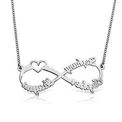 a266XDKSJK Personalized Infinity Necklace Names Necklace Cus