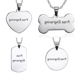 Personalized Men Women Name Necklace Pendant Dog Tag Custom