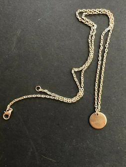 """Personalized Name 1/2"""" Disc Necklace Custom Engraved Any Nam"""
