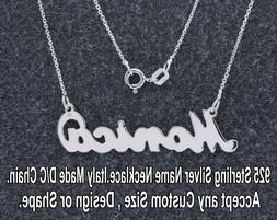 Personalized Name Necklace in 925 Sterling Silver Gift with