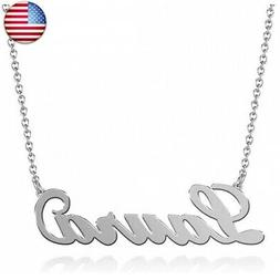 SOUFEEL Personalized Name Necklace Name Plate Necklace Penda