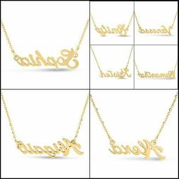 Personalized Name Necklace Pendant in Gold Tone,100 Names 16