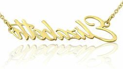 Beam Reach Personalized Name Necklace Pendant in Gold Tone,