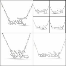 Personalized Name Necklace Pendant in Silver Tone, 100 Names