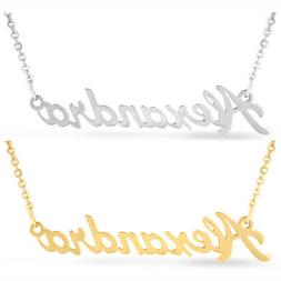 Personalized Name Necklace - Silver/Gold Plated- 100 Names I