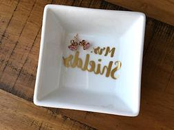 Personalized Name Ring Dish - Engagement Gift - Newly Engage