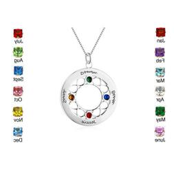 Personalized Names Birthstones Necklace Girls Necklaces for