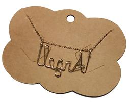 Personalized Necklace 14 K Gold Filled  Any Name Made Custom