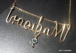 Personalized Necklace 14 K Gold Filled - Any Name Wire jewel