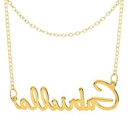 Personalized Sterling Silver Any Name Plate Script Necklace