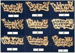 Personalized Sterling Silver Gold Any Name Plate Script Chai