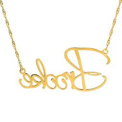 Personalized Sterling Silver Gold Plated LARGE ANY NAME Scri
