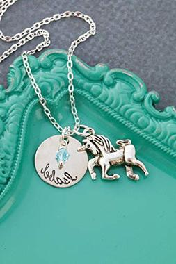 Personalized Unicorn Necklace – DII AAA - Little Girls Gif