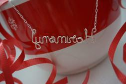 Personalized Wire Name Necklace, Custom Name Necklace