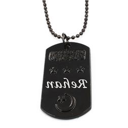 REHAN - Personalised Engraved Mens Dog Tag Name Necklace - C