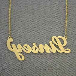 Script Name Necklace 10k Gold Personalized Fine Custom Made
