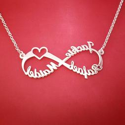 Silver Personalized Custom <font><b>Name</b></font> Infinity