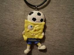 Soccer Player Spongebob Figure Charm Necklace Cartoon Novelt