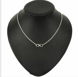Solid 925 Sterling Silver Infinity Forever Figure 8 Love fas