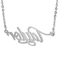 HUAN XUN Stainless Steel Delicate Name Necklace, Taylor