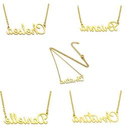 new stainless steel lettering name pendant chain