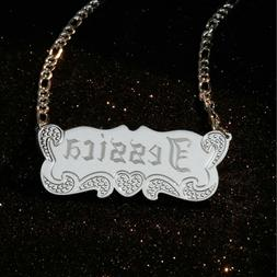 sterling silver personalized name necklace name plate