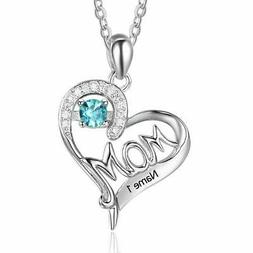 Sterling Silver Women Necklaces Free Engraving Name Custom N