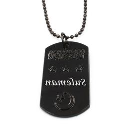 SULEMAN - Personalised Engraved Mens Dog Tag Name Necklace -