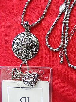 Tree of Life Scroll Heart Charms ID Badge Name Tag Key Holde