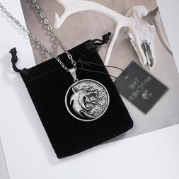 Wolf Head Necklace Name Witcher Necklace Pendants Fashion Je