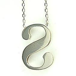 Women's Sterling Silver Totally Hand-Cut Initial S English A