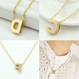 Women Men A-Z 26 English Letters Custom Name Link Chain Pend