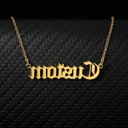 Women Men Name Necklaces Personalized Custom Stainless Steel