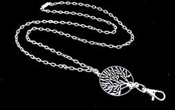 Women's Fashion Necklace Lanyard with Silver Tree of Life an