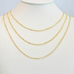 Womens Chain Necklace Gold plated 24k Minimalist Chains Figu